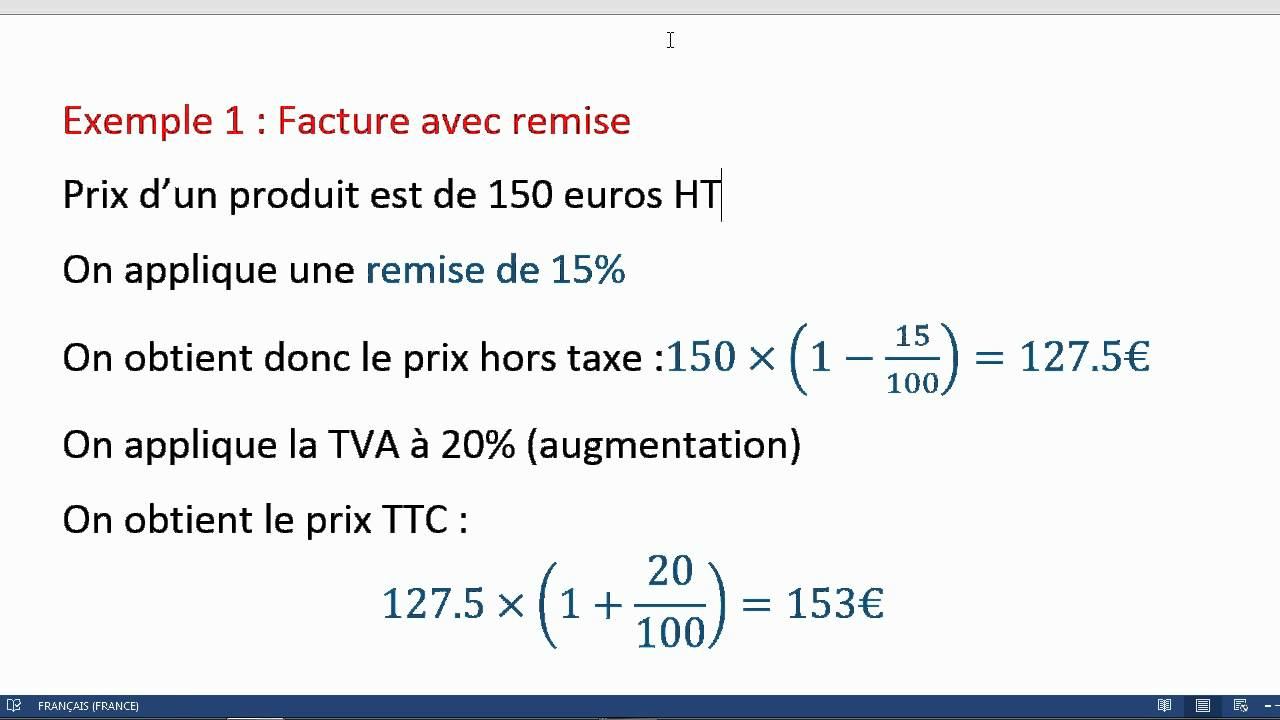 calculer le pourcentage d augmentation