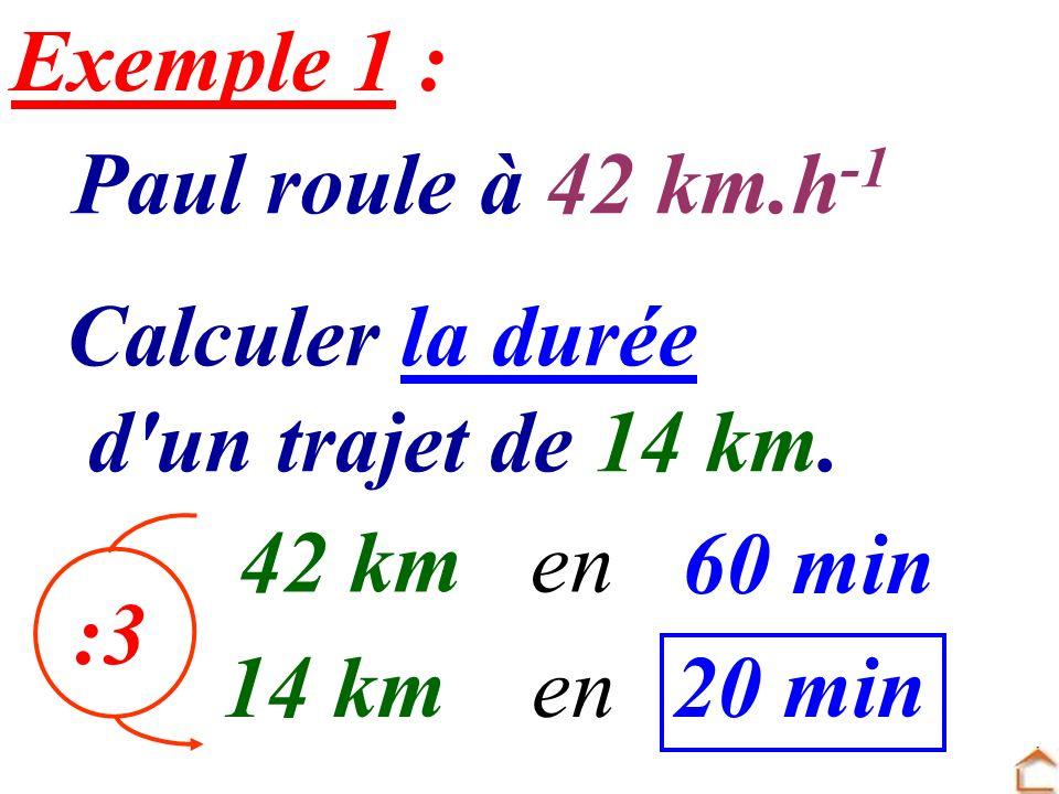 calculer les km h