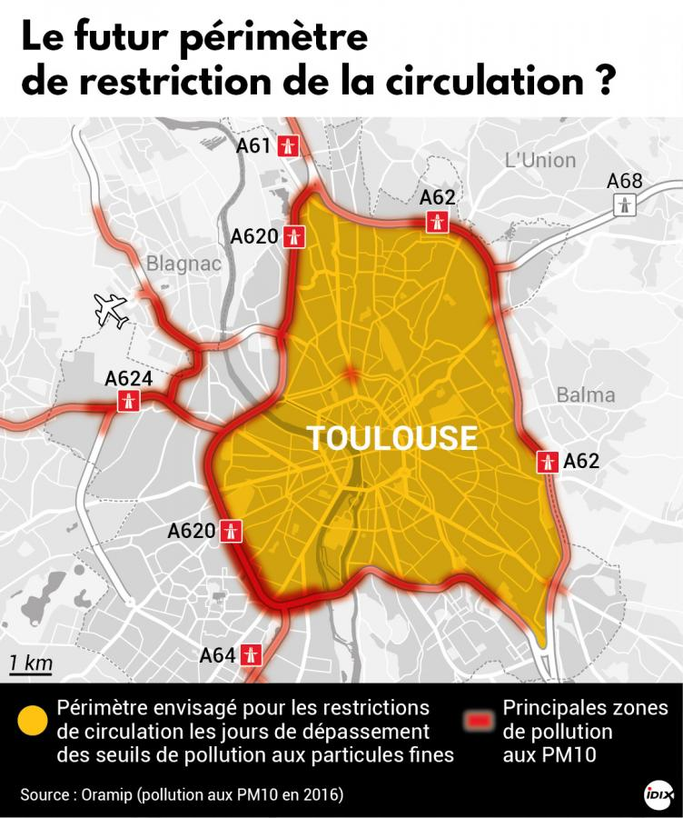 carte pollution toulouse