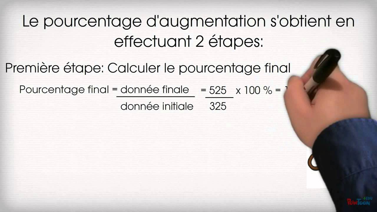 comment calculer le pourcentage d augmentation