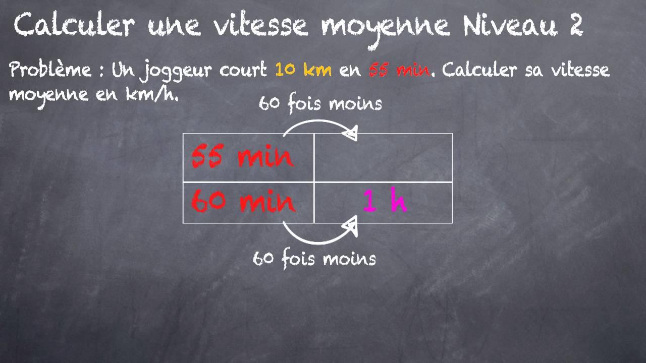 comment calculer les km h