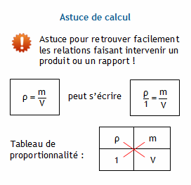 comment calculer une masse
