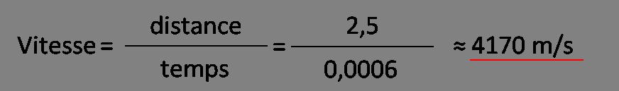 comment calculer une vitesse