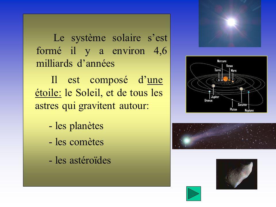comment s est forme le systeme solaire