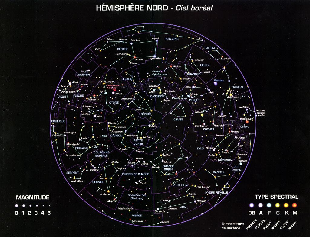 constellation hemisphere nord