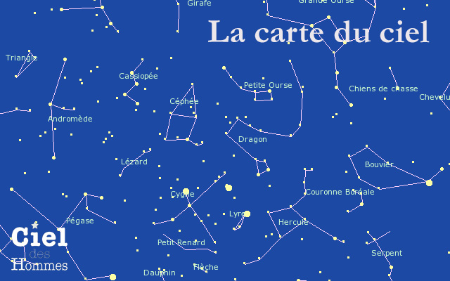 constellations carte du ciel