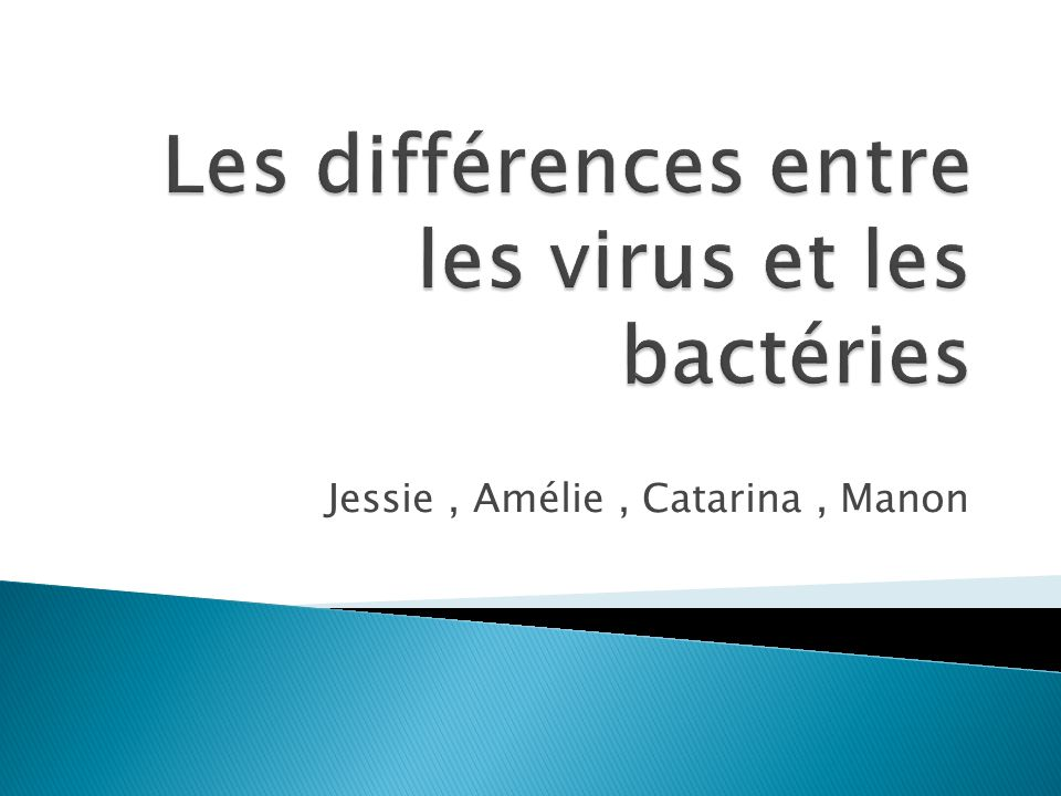 difference virus bacterie