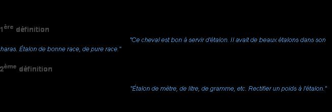 etalon definition