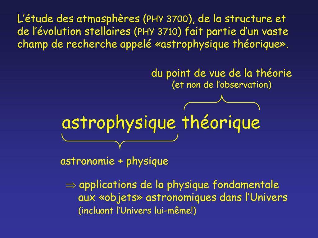 etude astrophysique