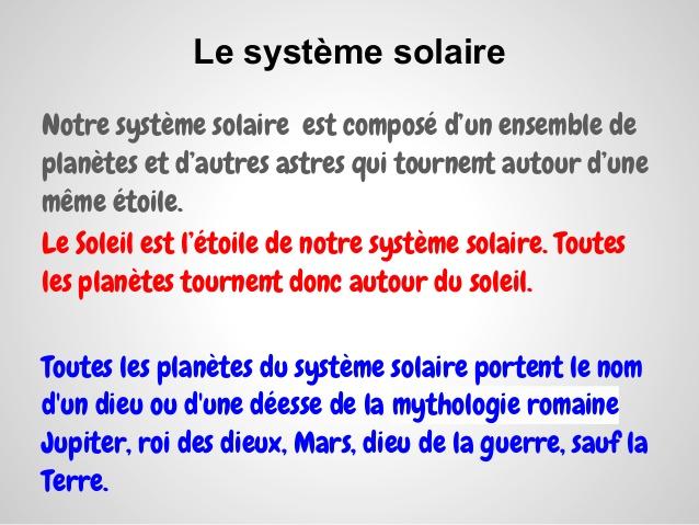 expose sur le systeme solaire