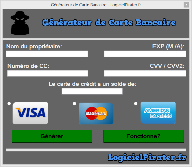 Carte Bancaire Valide Gratuit 2017.Generateur Carte