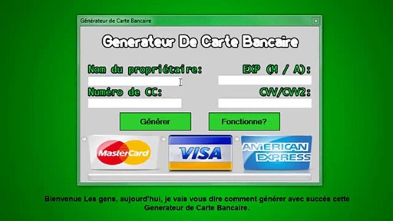 Generateur De Carte Bancaire Gratuit En Ligne.Generateur Carte