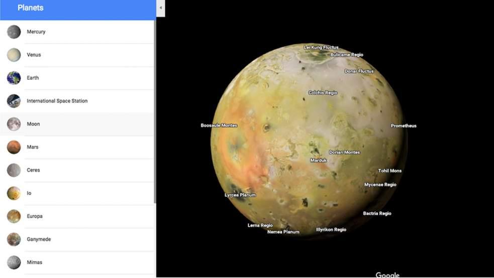 google map planete