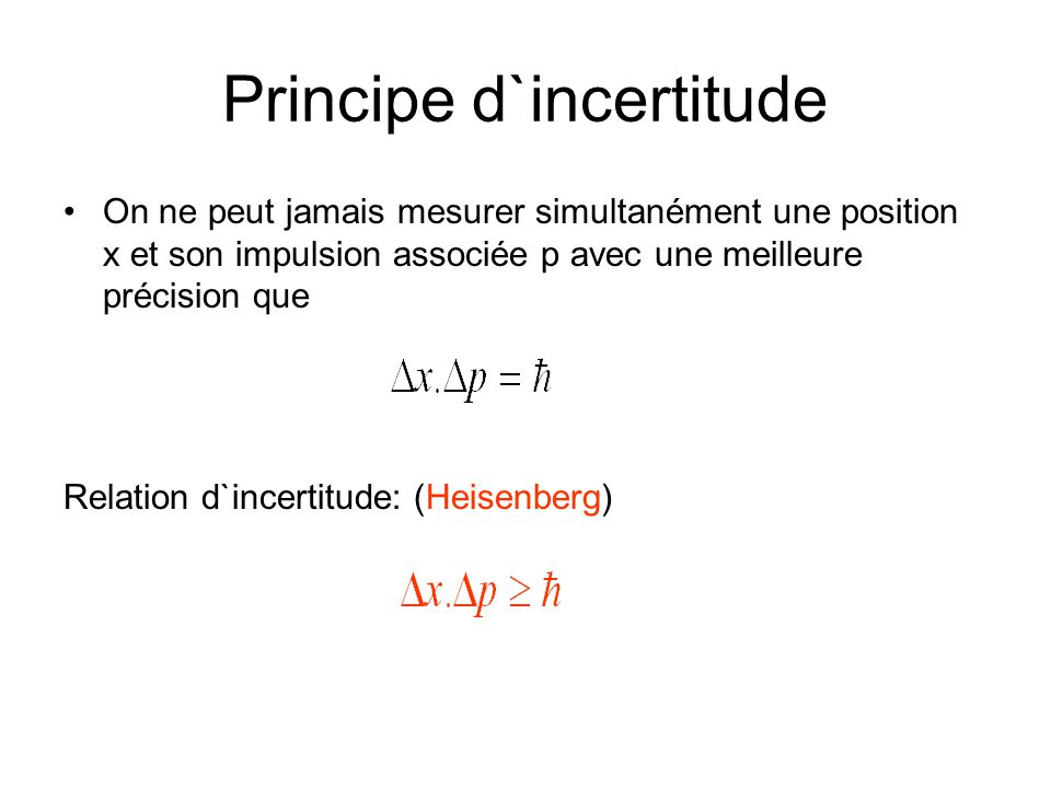 incertitude heisenberg
