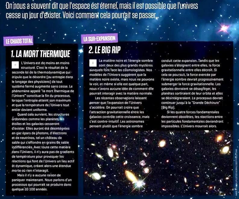la fin de l univers