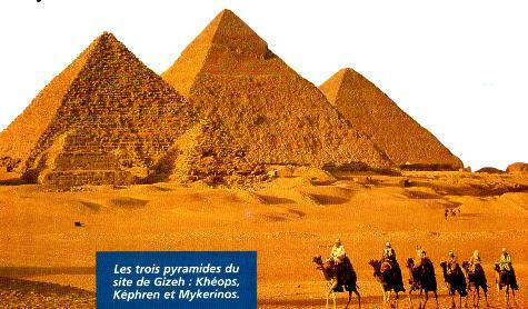 les 3 pyramides d egypte