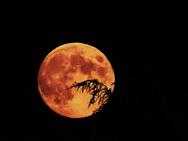 pourquoi la lune est orange