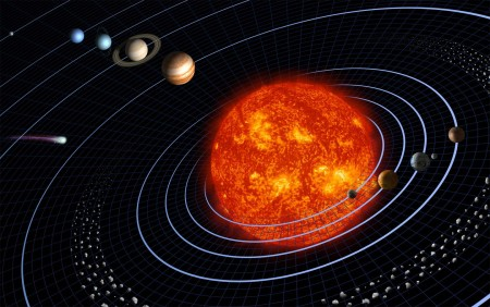 pourquoi les planetes tournent autour du soleil