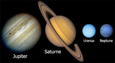 quelles sont les planetes gazeuses