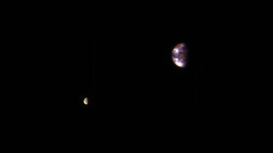 terre vue de mars