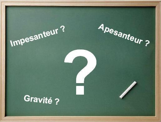 definition apesanteur