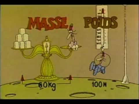 difference entre poids et masse