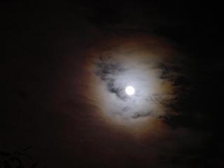 halo autour de la lune