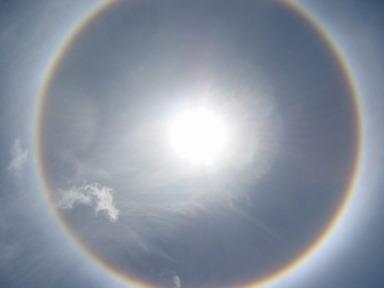 halo autour du soleil