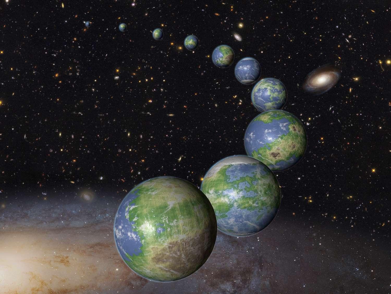 la terre dans l univers