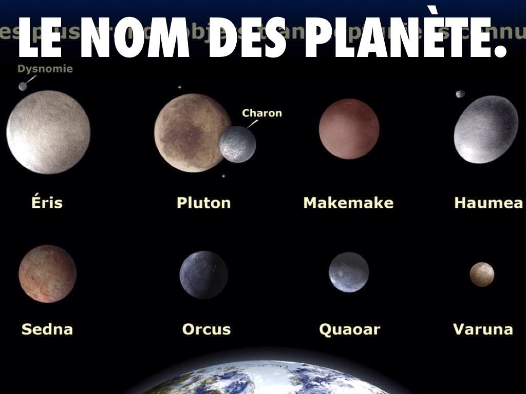 nom planete