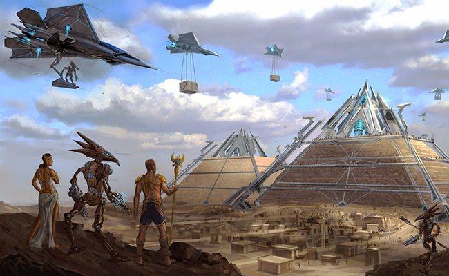 pyramide de gizeh extraterrestre
