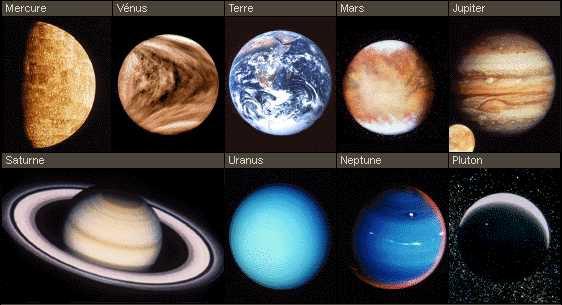toutes les planetes du systeme solaire