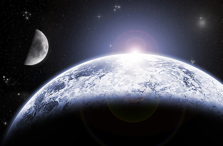 vitesse de la lune